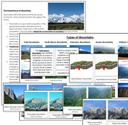 Types of Mountains - Printable Montessori Geography Materials by Montessori Print Shop.