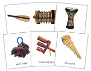 World Musical Instruments Bundle - Printable Montessori Geography Materials by Montessori Print Shop.