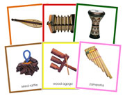 World Musical Instruments Bundle (color borders) - Printable Montessori Geography Materials by Montessori Print Shop.