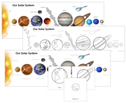 Our Solar System Charts - Printable Montessori Astronomy Materials by Montessori Print Shop