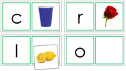 Phonetic Matching Cards (Set 3) - Printable Montessori language materials by Montessori Print Shop.