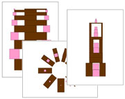 Pink Tower & Broad Stair Pattern Cards 3 | Montessori Print Shop