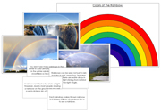 Rainbow Pictures and Fast Facts - Printable Montessori science Materials by Montessori Print Shop.