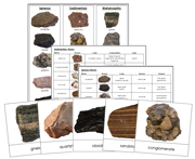 3 Types of Rocks: Igneous, Sedimentary, Metamorphic - Printable Montessori Science Materials for home and school.