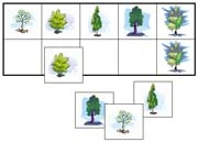 Tree Match-Up & Memory Game - Printable Montessori preschool materials by Montessori Print Shop.
