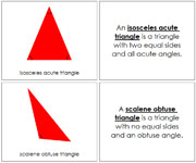 Triangle Book, Complex Concepts (red) - Printable Montessori math materials by Montessori Print Shop.