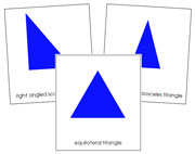 Triangle 3-Part Cards - Simple Concepts - FREE Printable Montessori Geometry Materials by Montessori Print Shop.