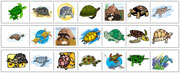 Turtle Cutting Strips - Printable Montessori preschool Materials by Montessori Print Shop.