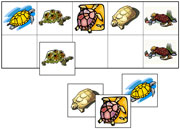 Turtle Match-Up & Memory Game - Printable Montessori preschool materials by Montessori Print Shop.