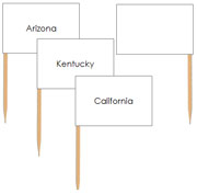 USA State Pin Map Flags - Printable Montessori geography Materials by Montessori Print Shop