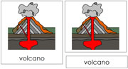 Volcano Nomenclature Cards - Printable Montessori nomenclature cards by Montessori Print Shop.