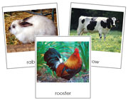 Farm Animals Cards - Printable Montessori Classified Cards by Montessori Print Shop.