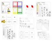 Montessori Math Extensions - Printable Montessori Math Materials by Montessori Print Shop.